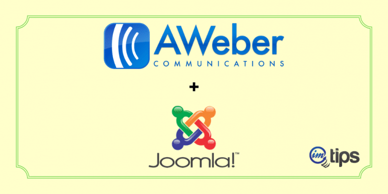 Free AWeber Joomla Integration Without Any Extension