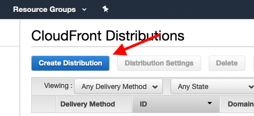 CloudFront Create a CDN distributions