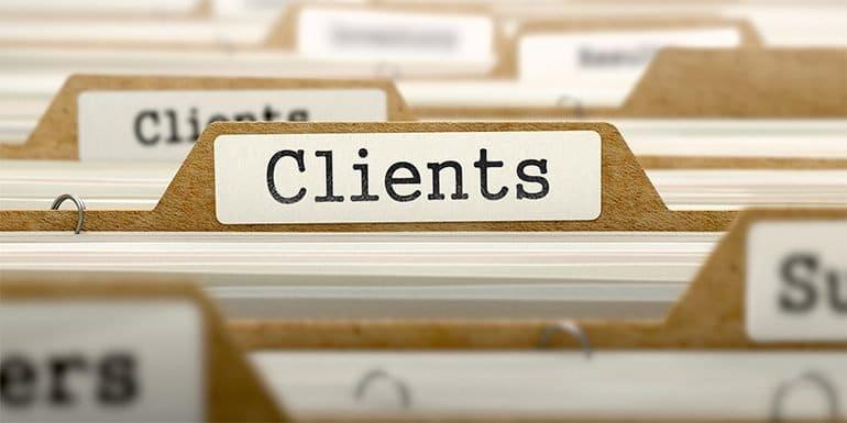 get graphic design clients