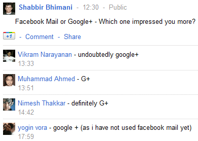 Facebook Mail or Google Plus – Which one impressed you more?