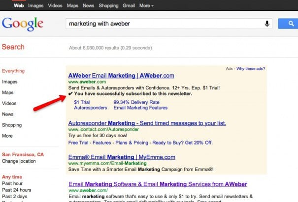 Google's New Ad Format – Yet Another Reason to Have AWeber On Your Blog