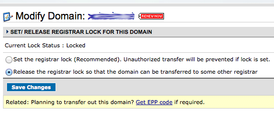 Unlock Domain at Namecheap to Transfer to GoDaddy