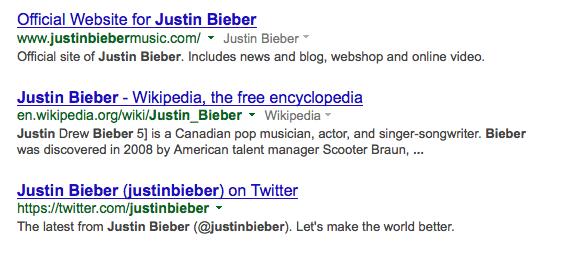 Top 3 Google Result