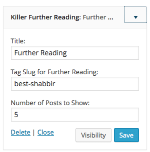 Killer Further Reading WordPress Plugin