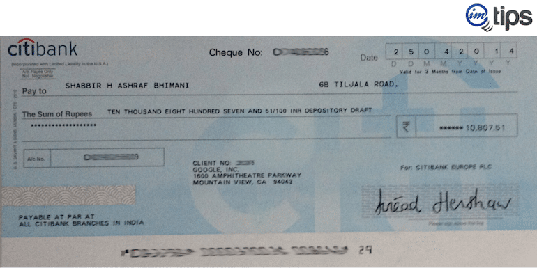 My Last Ever Check from Google Adsense