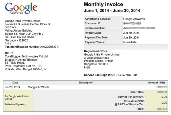 Google-Invoice