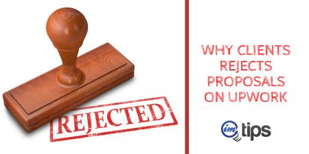 Upwork Proposals Rejected