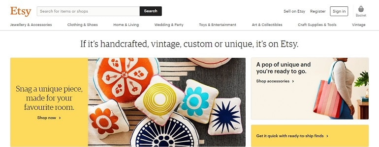 Etsy marketplace