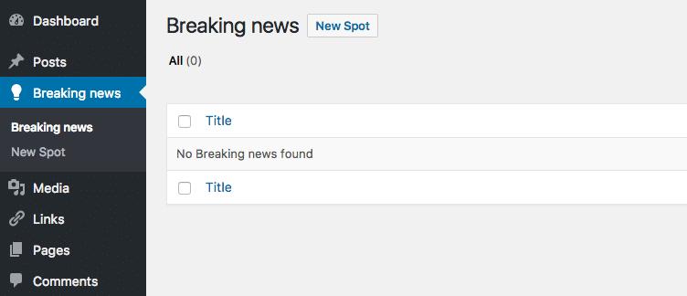 breaking news option in oldpaper
