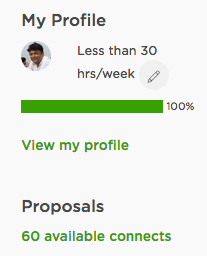 Shabbir Bhimani's Upwork Connects