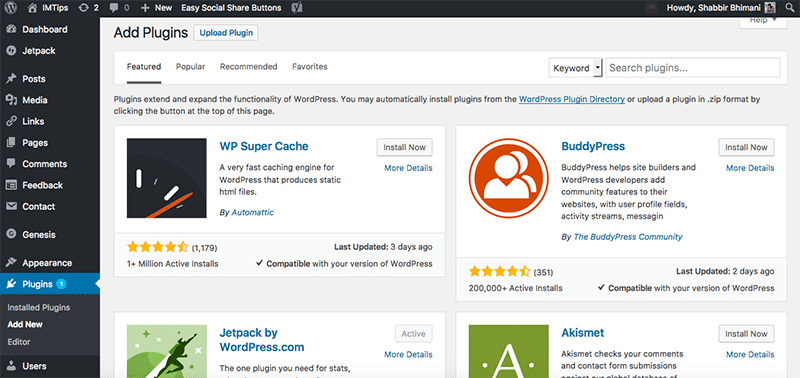 Add Plugins to Customize the WordPress website further