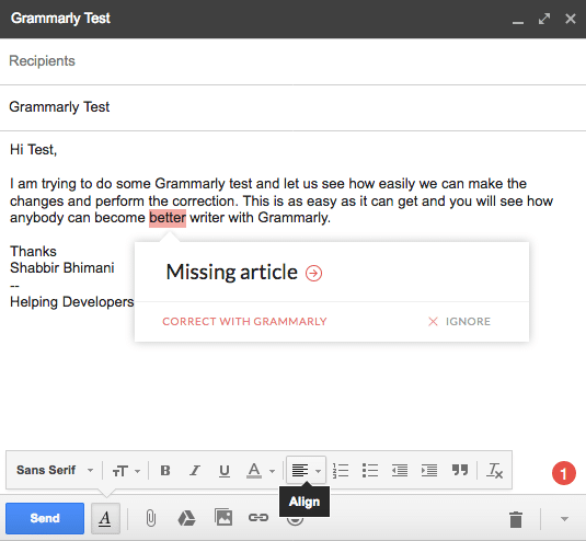 Grammarly Review - A Must Have Tool for Every Indian Blogger