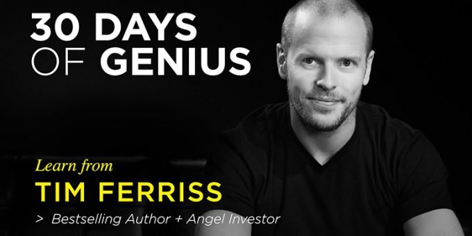 """Tim Ferriss Interview On """"CreativeLive – 30 Days of Genius"""" by Chase Jarvis"""