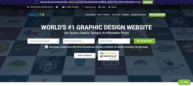 freelancing site for designer designhill