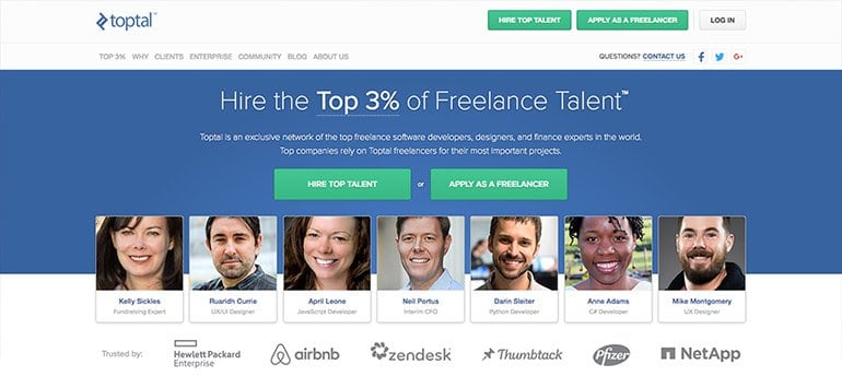 freelancing site toptal