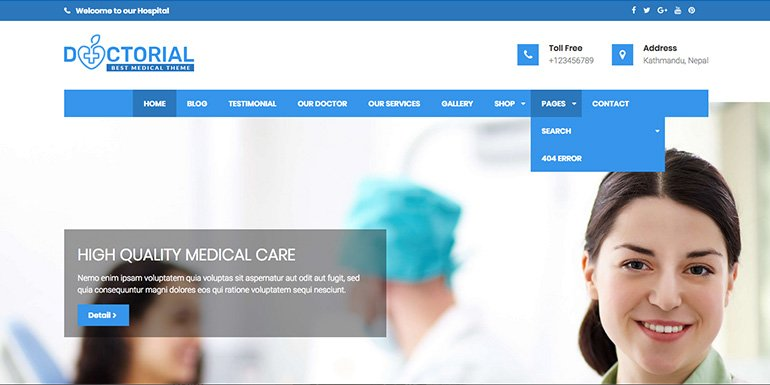 Doctorial WordPress Themes Portfolio