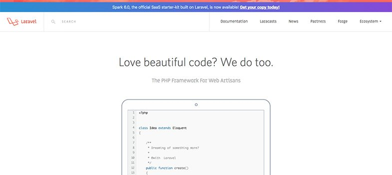 Laravel PHP framework