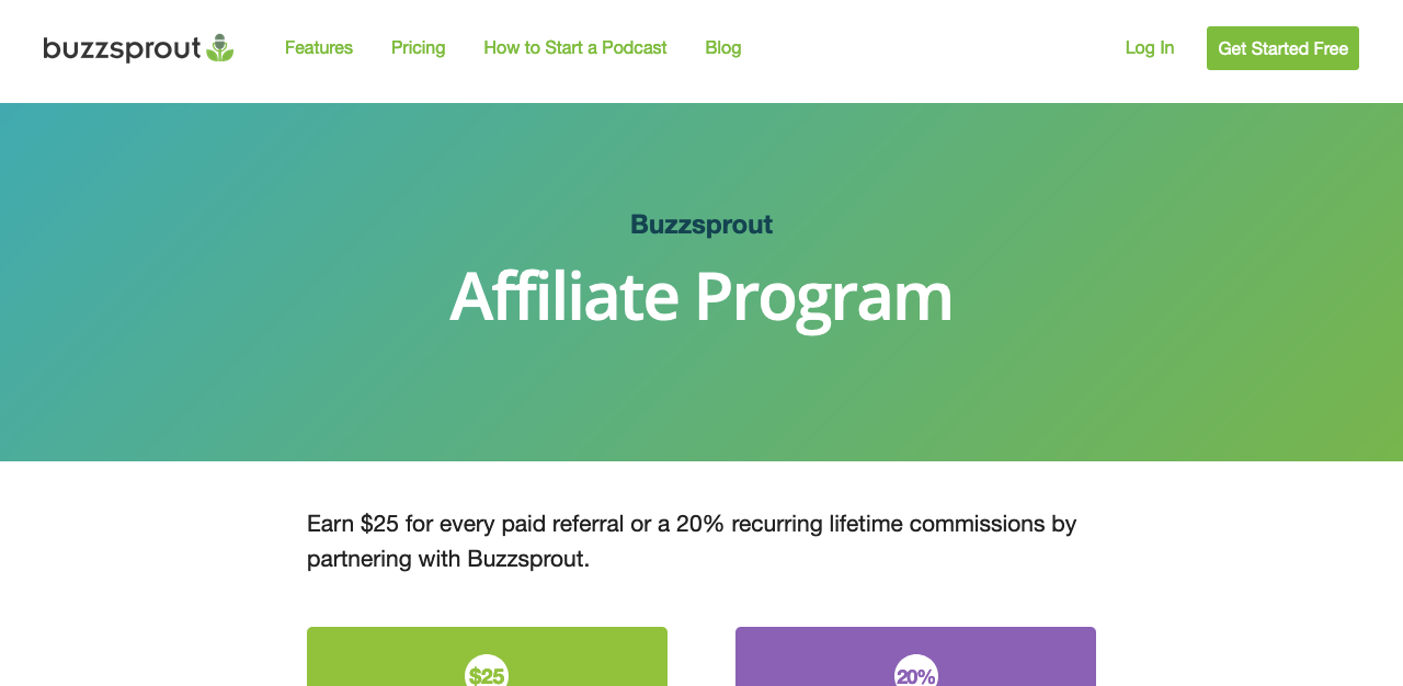 Buzzsprout Recurring Affiliate Program