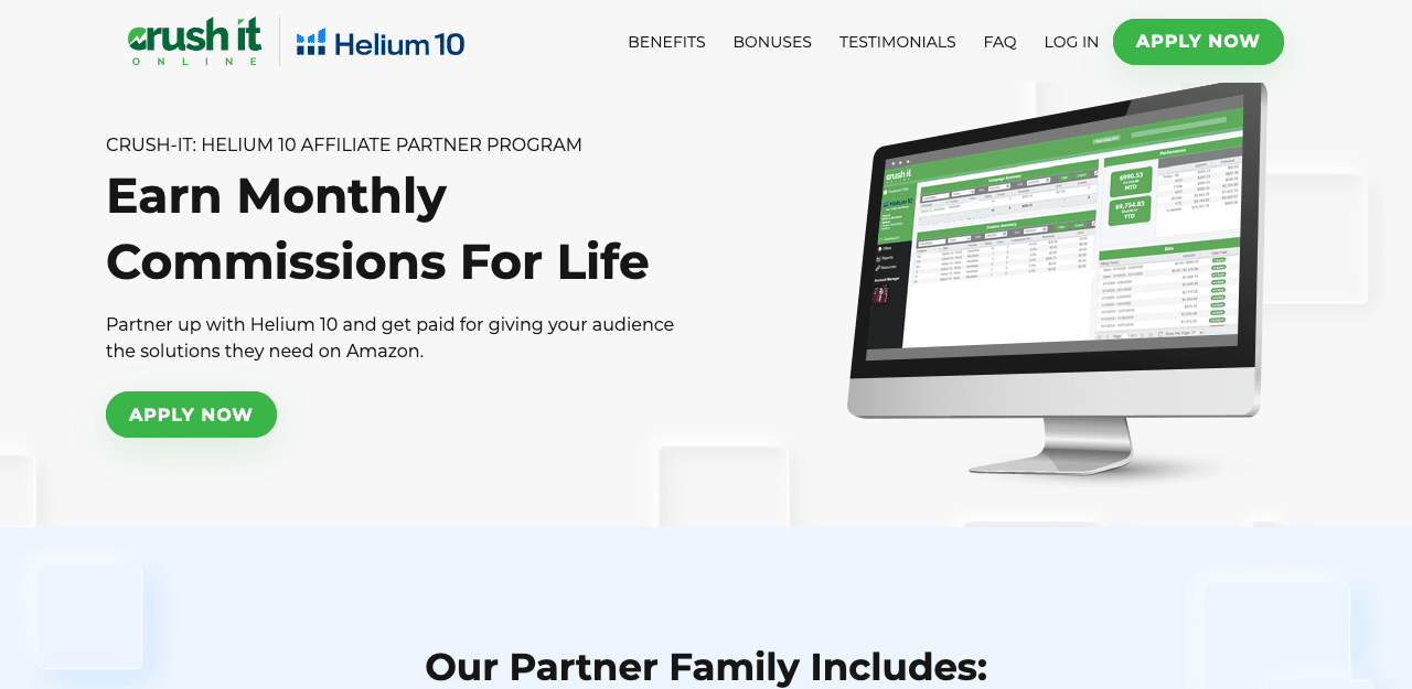 Helium 10 Affiliate Partner Program