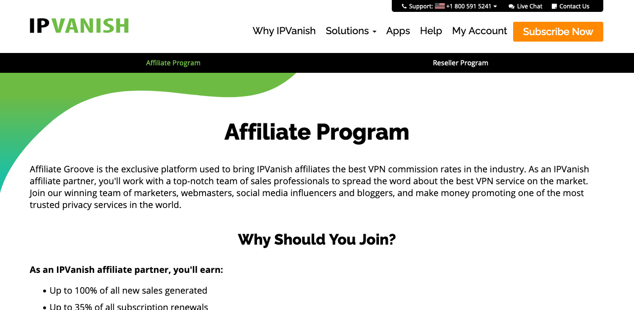 Partners and Affiliates - IPVanish