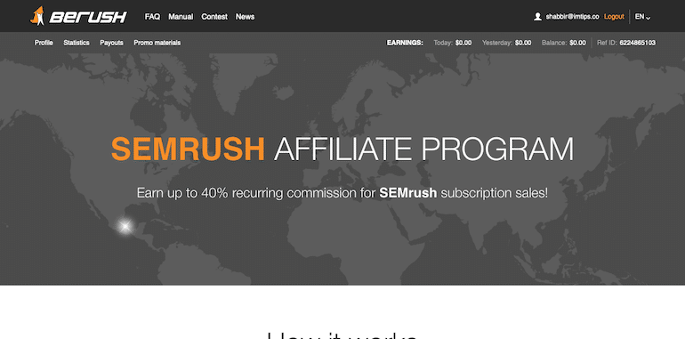 semrush recurring earning affiliate program