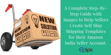 Creating Self-Ship Shipping Template For Amazon India?