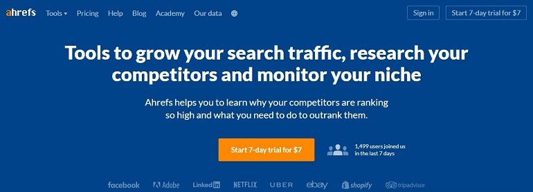 Ahrefs Traffic Analysis Tool