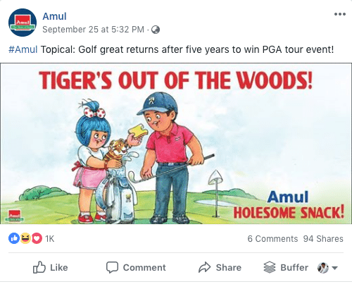 Facebook Content Ideas from Amul