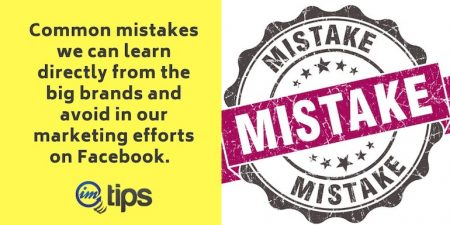 Facebook Marketing Mistakes