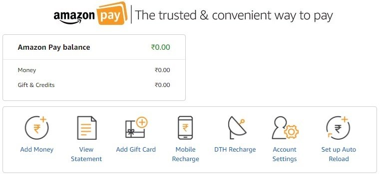 Amazon pay balance money
