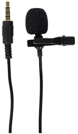 Generic 3.5mm Clip On Mini Lapel Lavalier Microphone (Black)