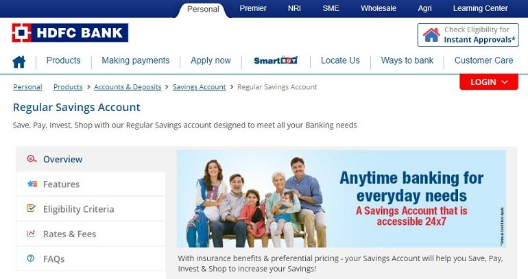 HDFC Bank Regular Savings Account