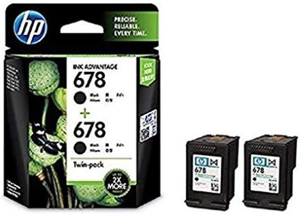 HP 678 Black Original Ink Advantage Cartridges, Pack of 2