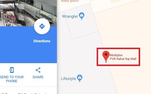 Label in Google Maps