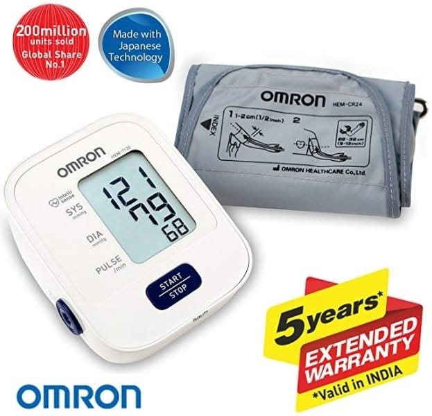 Omron HEM 7120 Fully Automatic Digital Blood Pressure Monitor