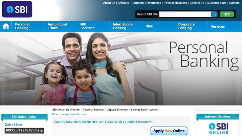 State Bank of India Basic Savings Bank Account
