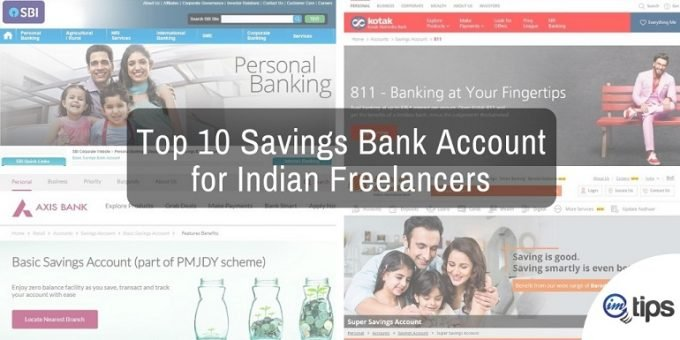 Top 10 Savings Bank Account for Indian Freelancers