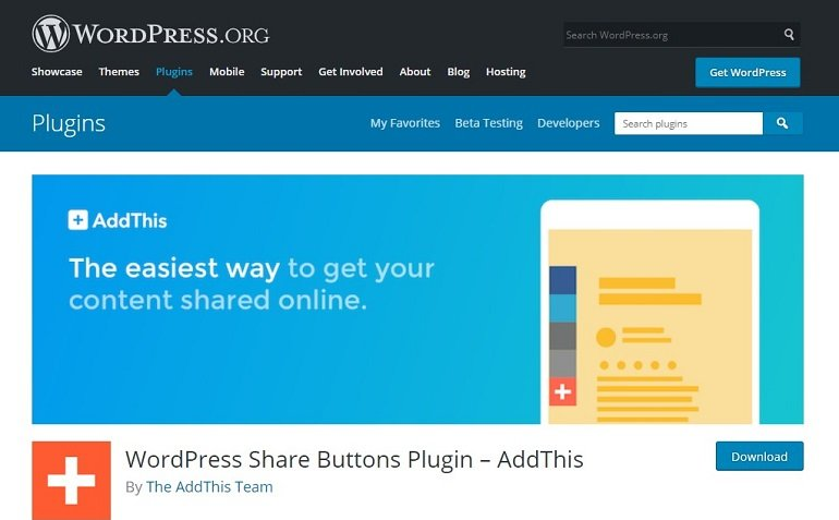 AddThis WordPress Plugin