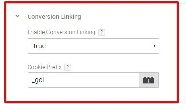 Conversion linking for Google Ads Conversion in Google Tag Manager