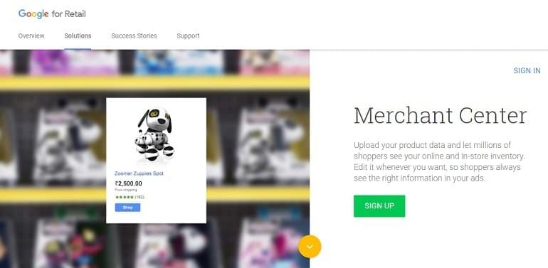 Google merchant center featured image