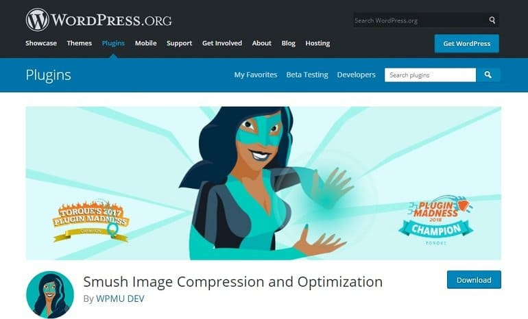 WP Smush Image Compression and Optimization WordPress plugin