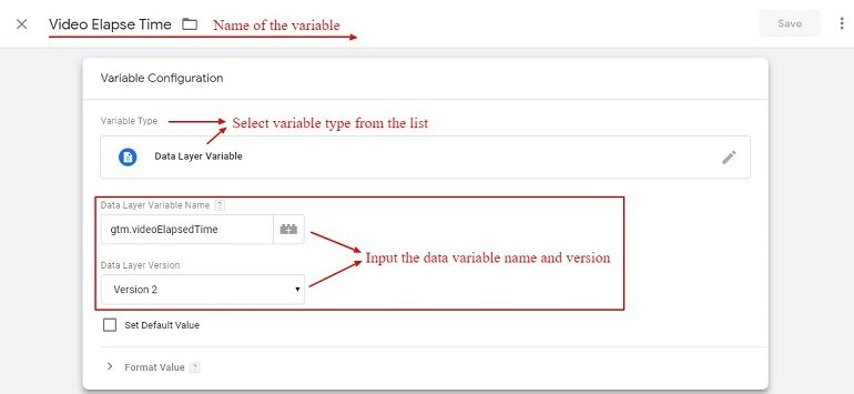 data layer variable in gtm for video Tracking