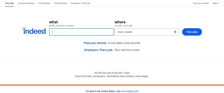 Indeed job search india