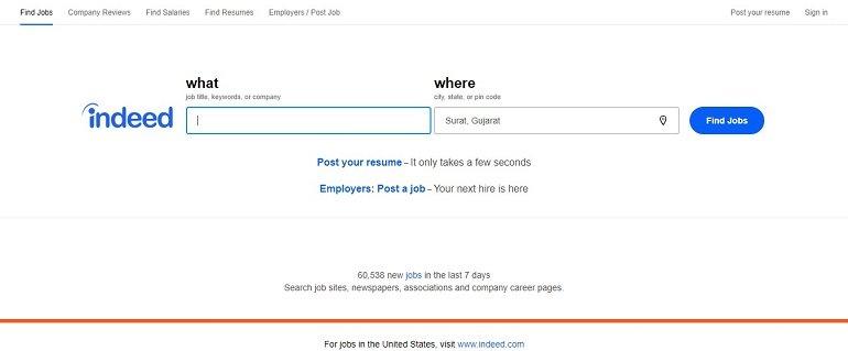 Indeed job search india