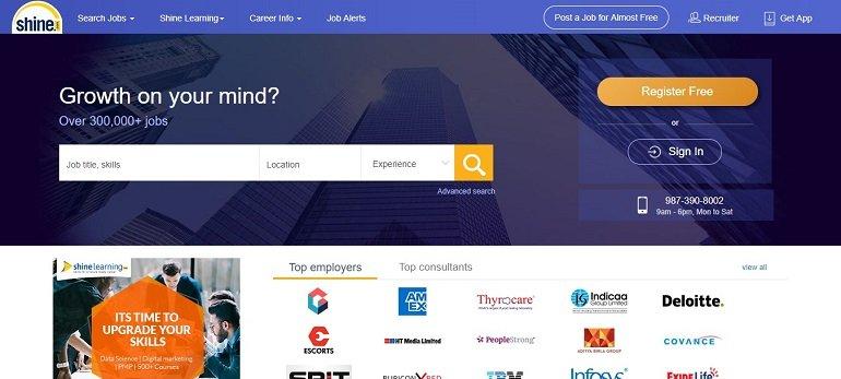 Shine.com jobs