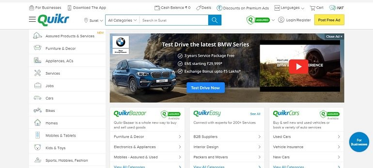quikr free classified ads