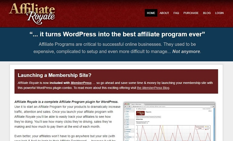 Affiliate royale wordpress affiliate manager plugin