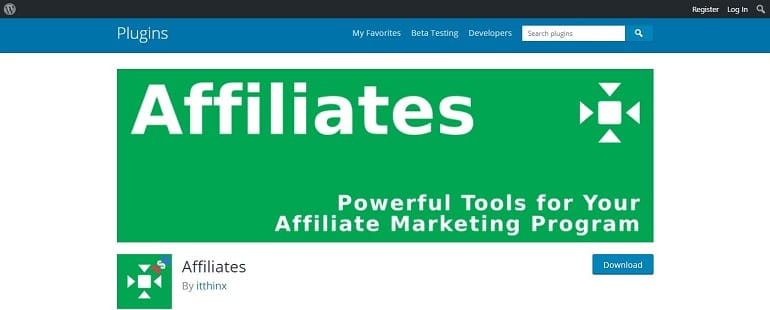 Affiliates affiliate manager wordpress plugin