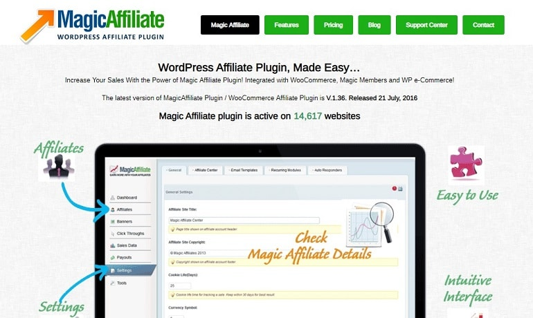 Magic affiliate wordpress plugin