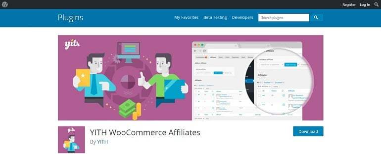 YITH woocommerce affiliates manager plugin